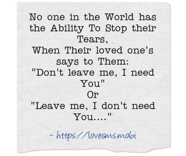 20 Sad Tears Quotes with Images - Love Messages